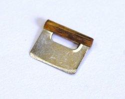 画像1: スケッパー(パンの生地切り)木製の持ち手