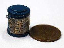 画像1: 販売終了:オイル缶(ブルー):ラベルはお任せください。