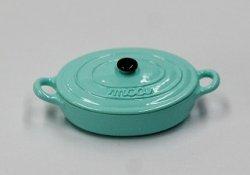 画像1: 西洋鍋(ミルクミントグリーン楕円)