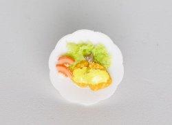 画像1: Discontinue・制作販売終了:アジフライ皿