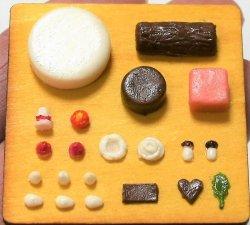 画像1: ケーキ型:ホールケーキ、プチケーキ丸と四角、ブッシュドノエル