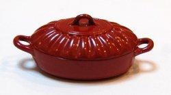 画像1: 西洋鍋nami(完熟トマト楕円)