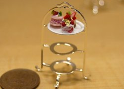 画像1: Discontinue・制作販売終了:ケーキスタンド(3段銀)