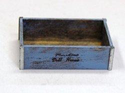 画像1: Discontinue・制作販売終了:ツールボックス(木製)ブルー