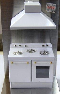 画像1: キッチンコンロ・ホワイト:受注後制作