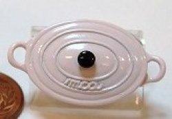 画像1: 西洋鍋(淡ピンク楕円)