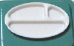 画像1: プラスチック白ランチトレー (pu-133)