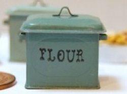 画像1: Discontinue・制作販売終了:FLOUR缶(オールドグリーン)