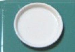 画像1: プラスチック白丸皿(pu-104)